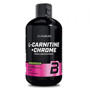 BioTech USA L-Carnitine Liquid with Chrome