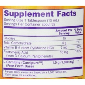 Now Foods L-Carnitine Liquid 1000 mg
